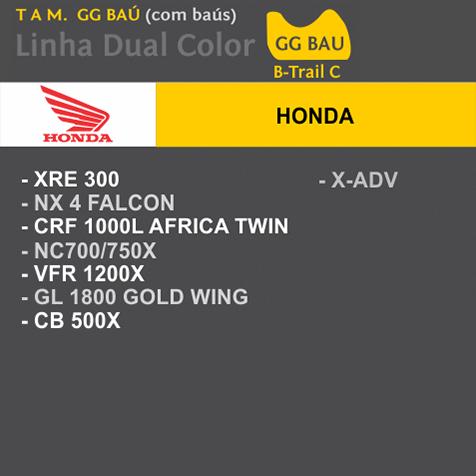 Capa Para Moto DualColor Honda  Tam. GG BAÚ (permeavel)