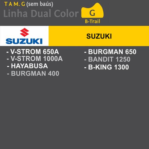 Capa Para Moto DualColor Suzuki Tam. G (permeavel)