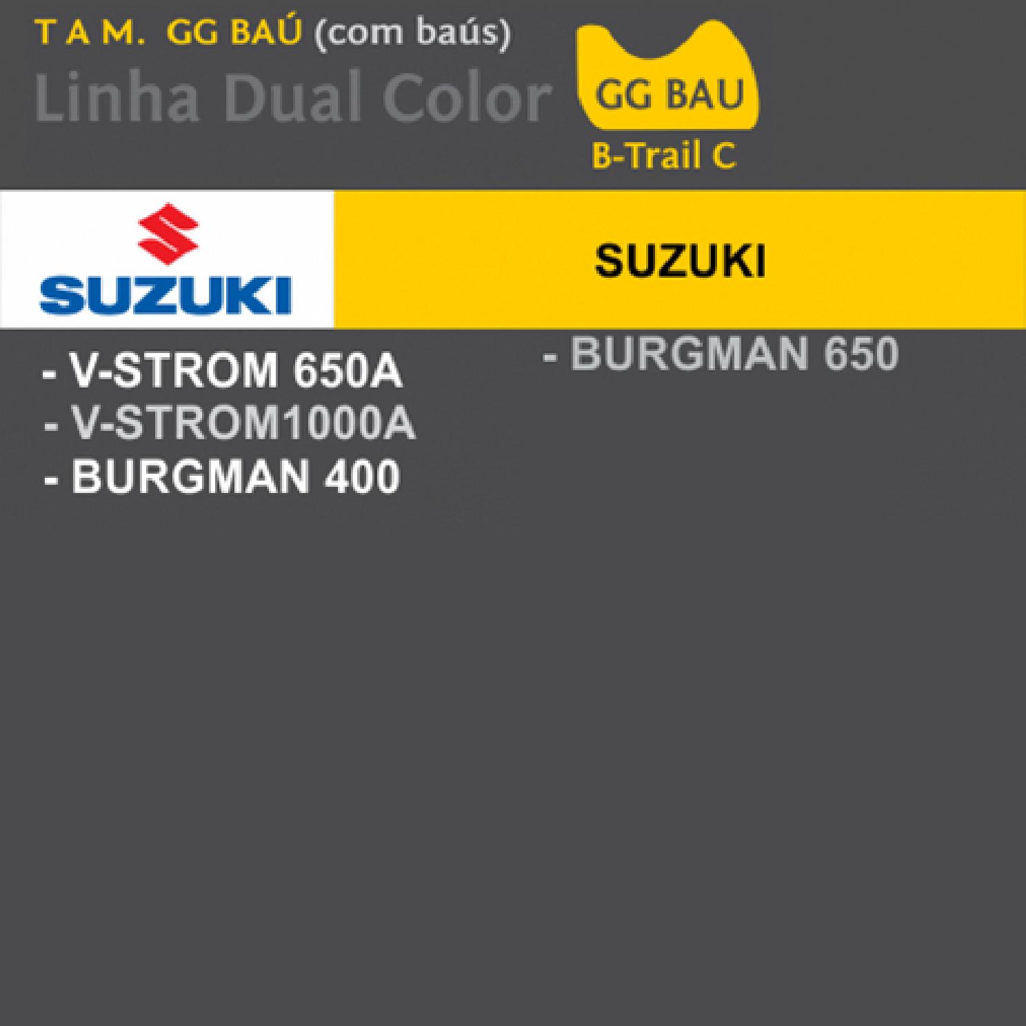 Capa Para Moto DualColor Suzuki Tam, GG Baú (permeavel)