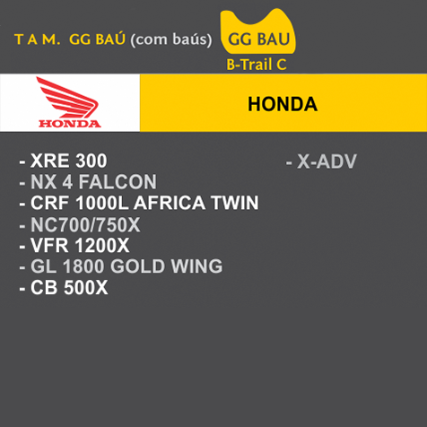 Capa Para Moto Premium Honda GG Baú (permeavel)