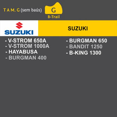 Capa Para Moto Premium Suzuki Tam. G (permeavel)