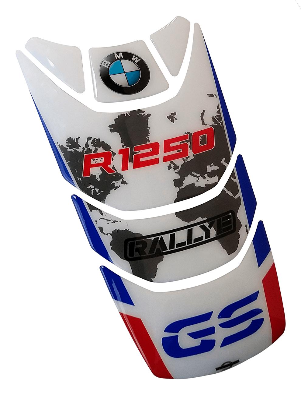KIT Adesivos Protetor Tanque BMW R1250 GS Adventure Rallye Rosa dos Ventos Vermelho