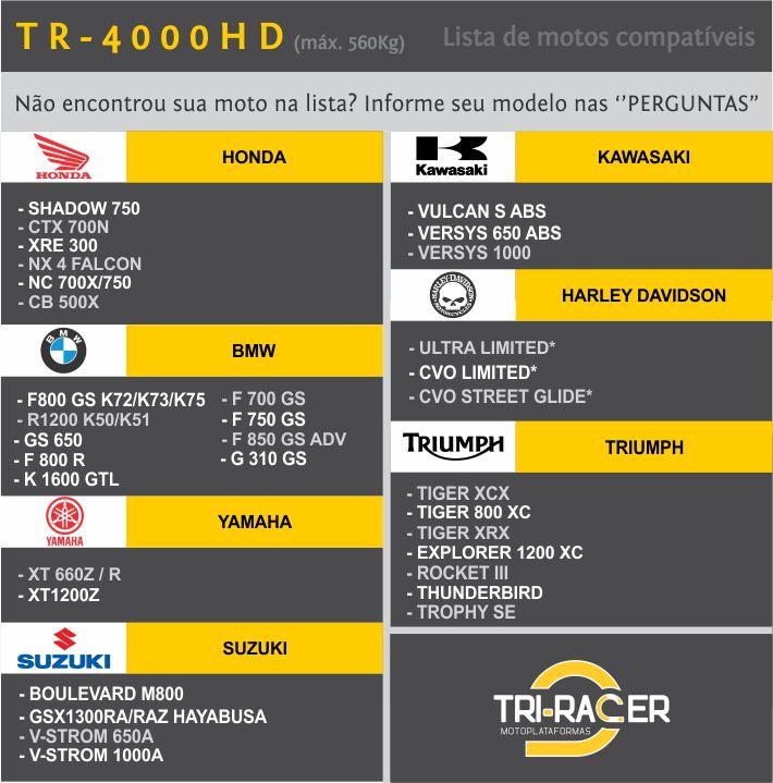 Moto Plataforma P/ Estacionar  Tr-4000HD - até 560kg