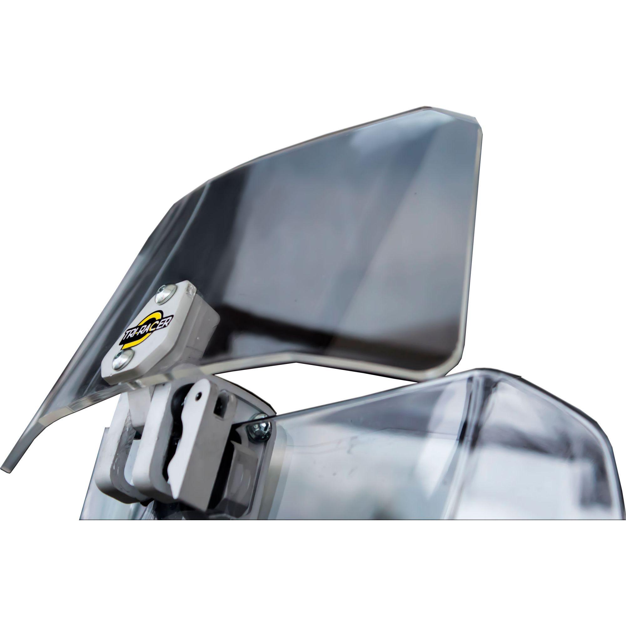 Defletor Ajustável Para Bolha De Moto Universal