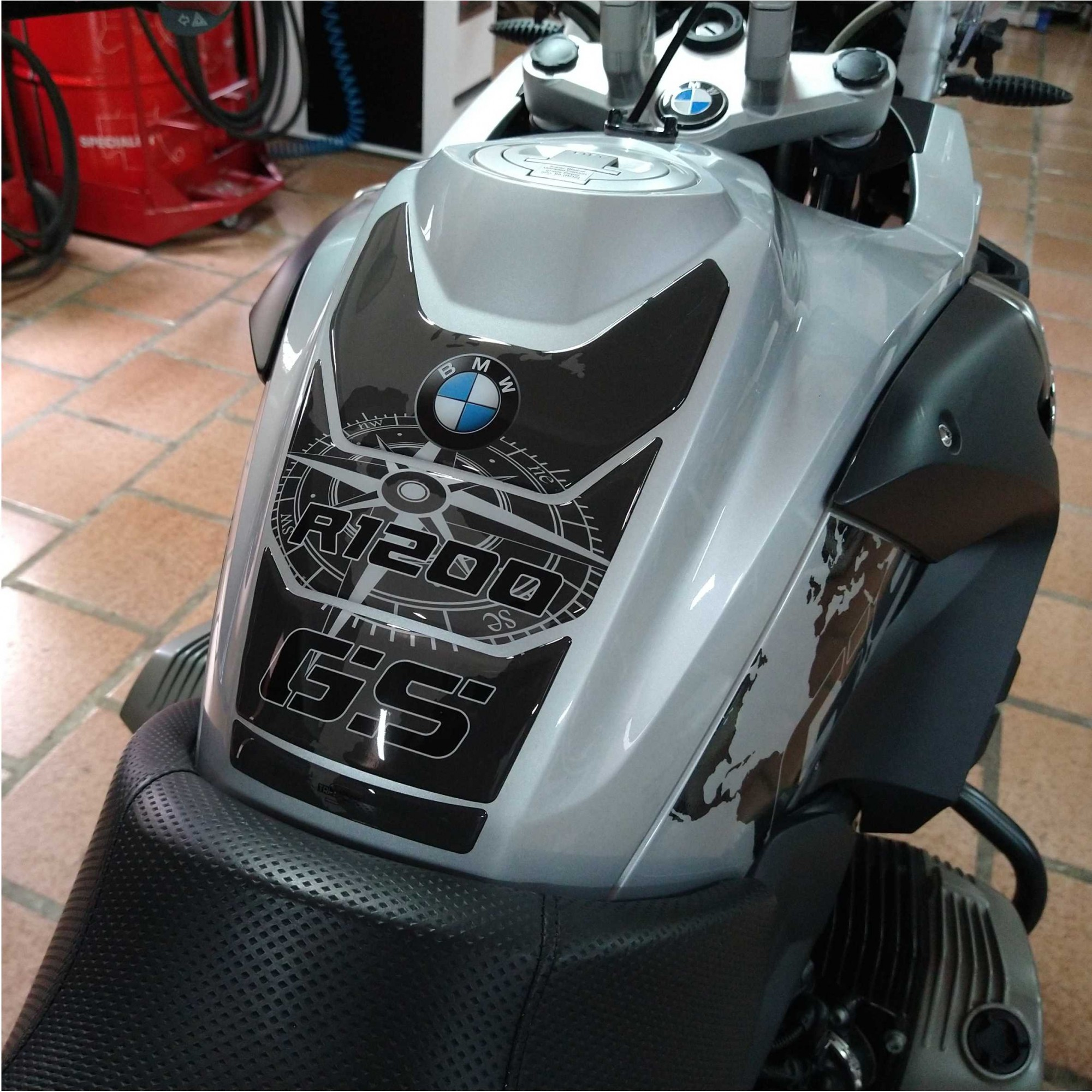 KIT Adesivos Protetor Tanque BMW R1200 Gs Premium Até 2013 - MAPA