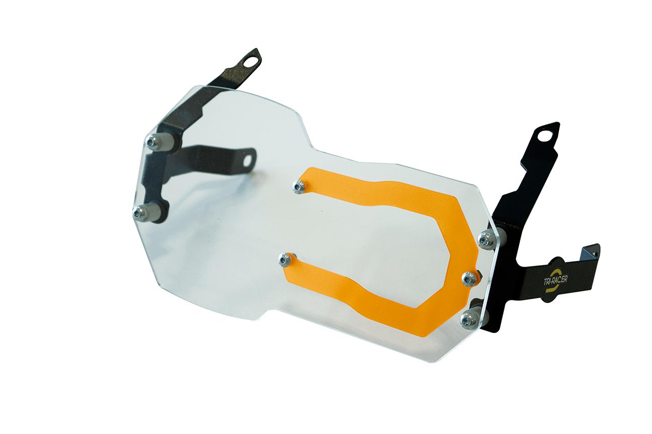 Protetor de Farol com Lente Colorida em Aço + Acrilico para moto BMW R 1200 / 1250 GS.