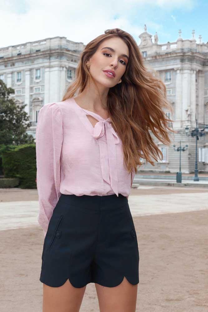 Blusa Laço Rosê