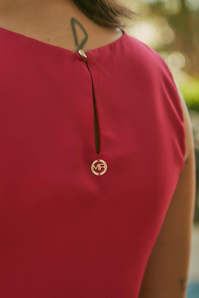 Blusa Recorte Detalhe em Metal Rosa