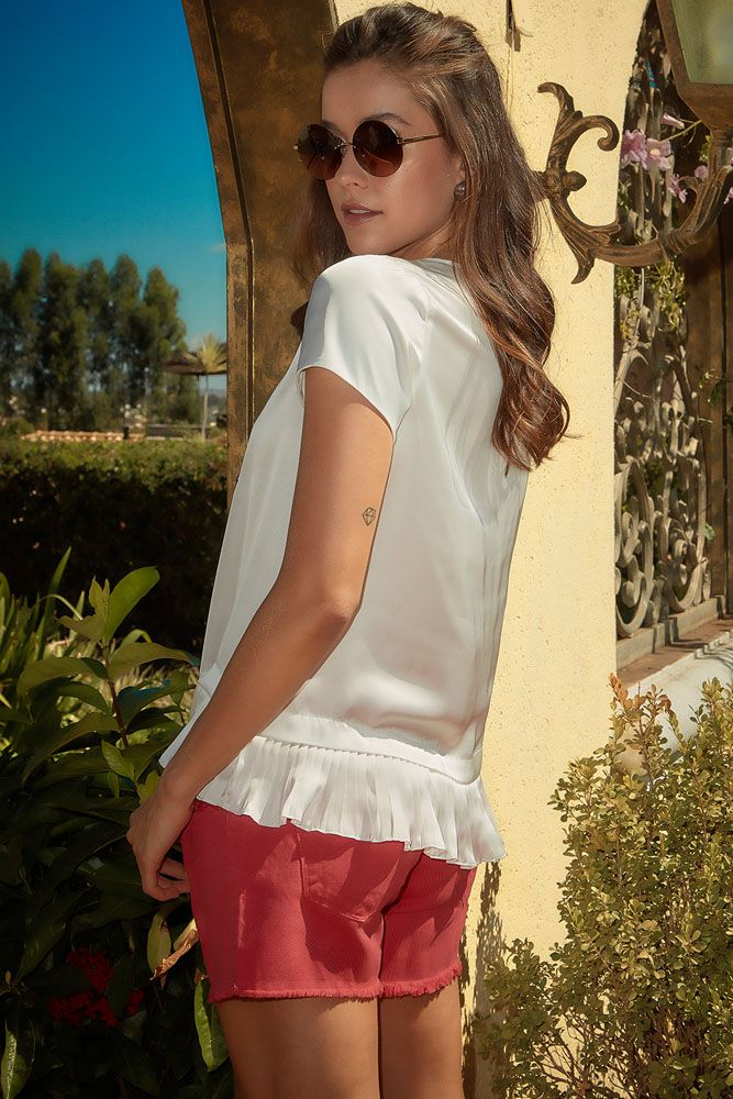 Blusa Silk Off-white