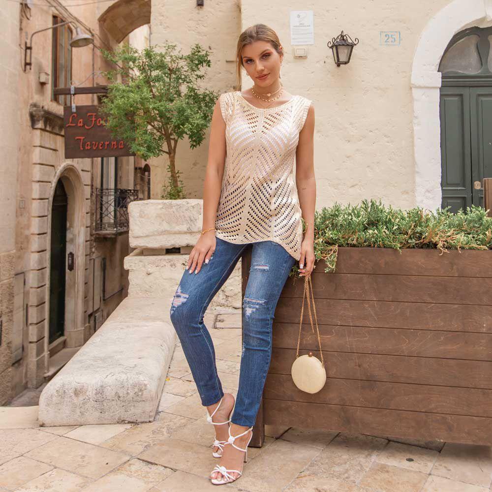 Calça Jeans Skinny Lavagens Estonada