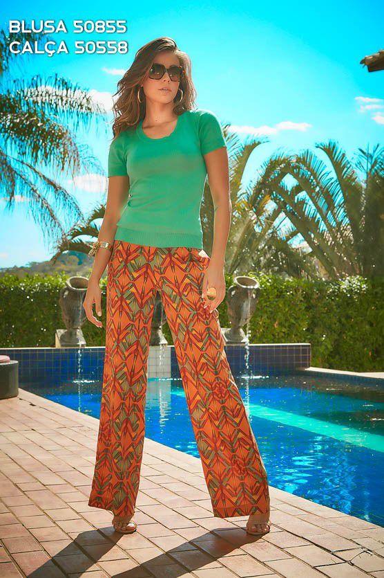 Calça Pantalona com Fivela