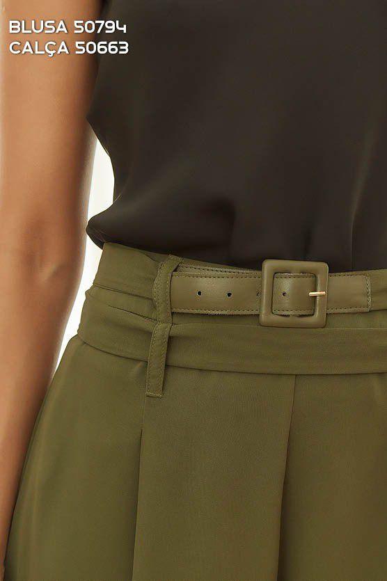 Calça Pantalona Verde