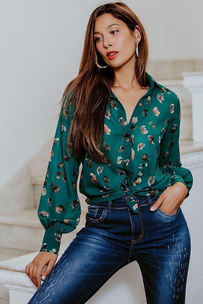 Camisa Chiffon Multicolorida