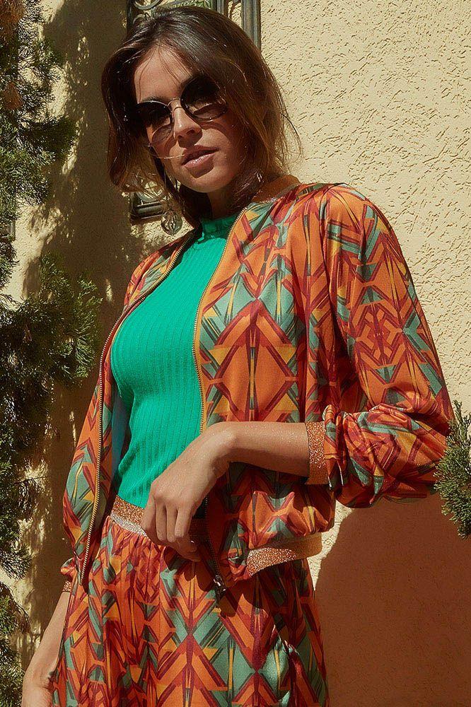 Jaqueta Bomber Multicolorida