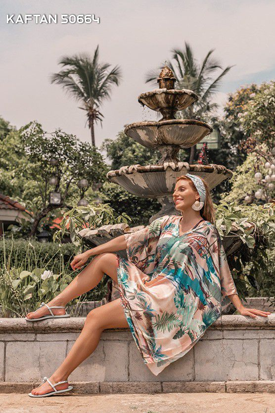 Kaftan Curta Estampada