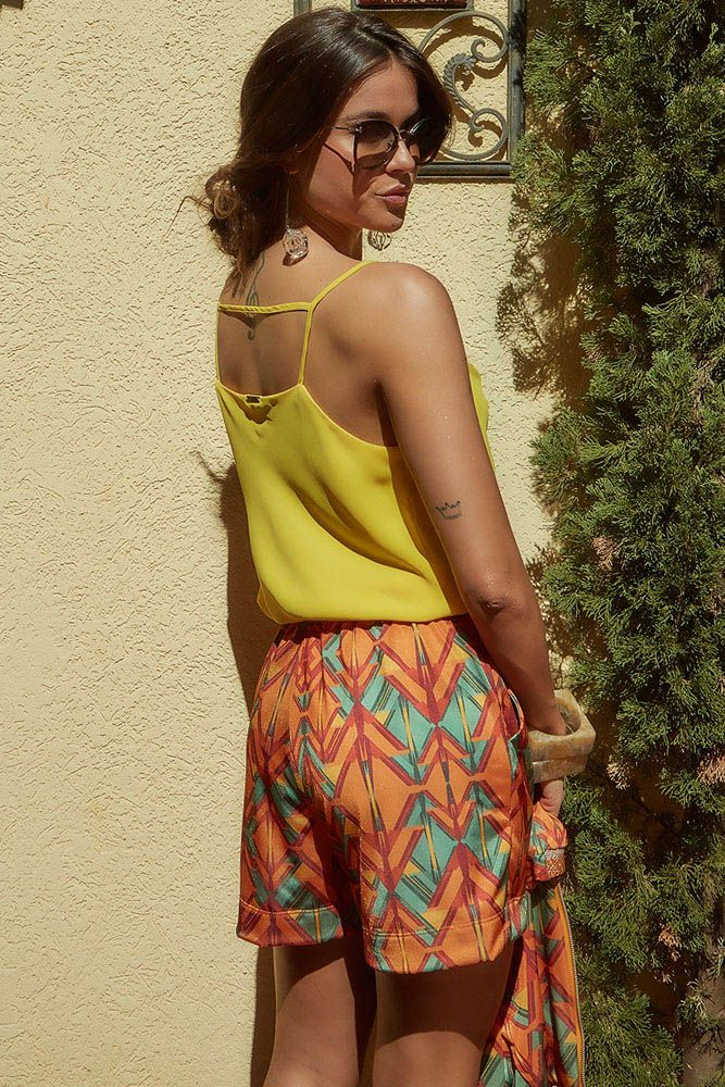 Regata Drapeada Amarelo