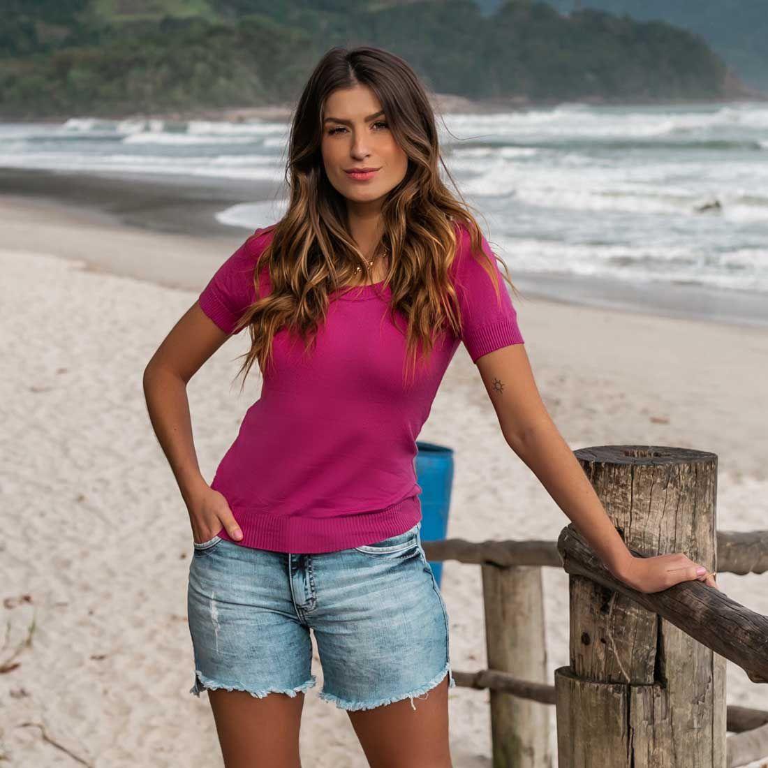 Short  Jeans Lavagem Clara