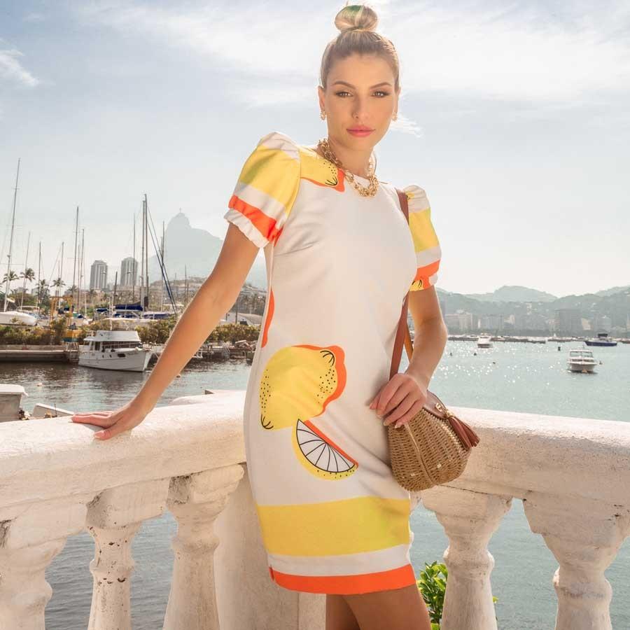 Vestido Estampa Limão
