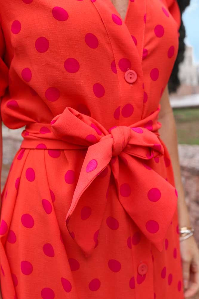 Vestido Longuete Poa