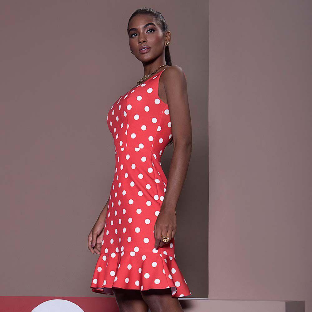 Vestido Poá Vermelho