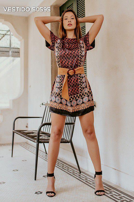 Vestido Sublimado Étnico