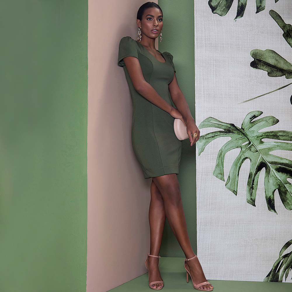 Vestido Tubinho Malha Verde