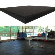 Piso de Borracha 16mm (1m²)  50x50 Preto
