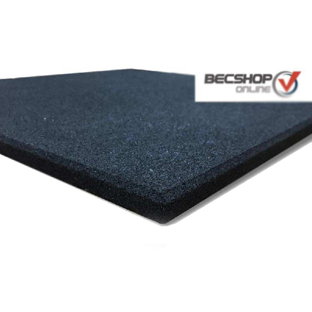 Piso de Borracha 16mm (38m²)  50x50 Preto