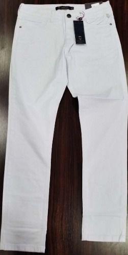 Calça Masculina Sarja Branca Concept Fit Individual