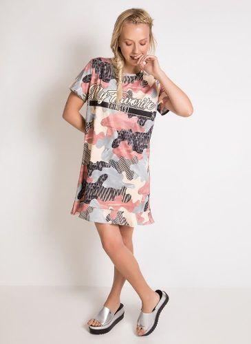 Vestido T-shirt Estampado Camuflagem MyFT