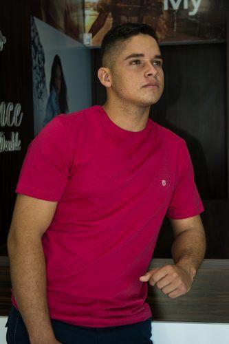 Camiseta Básica Slim Mesclada Individual