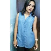 Camisa Feminina Sem Manga Dudalina