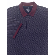 Camisa Polo Masculina Confort Fit  Poá Gola Trabalhada Individual