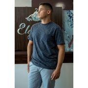 T-shirt Camiseta Com Bolso Comfort Fit Mesclada Individual