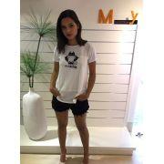 T-shirt Com Recorte Catman Branca MyFT