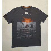 T-shirt Slim Fit Malha Cinza Individual