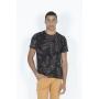 T-Shirt Camiseta Estampa Folhagem Full Print Dimy