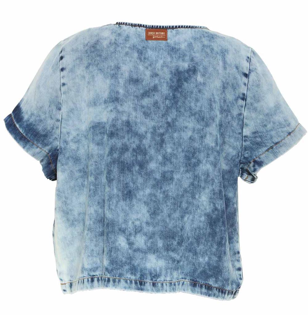 Blusa Jeans Fluida Lança Perfume