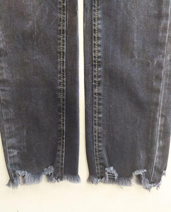 Calça Feminina Jeans preto estonada Dudalina