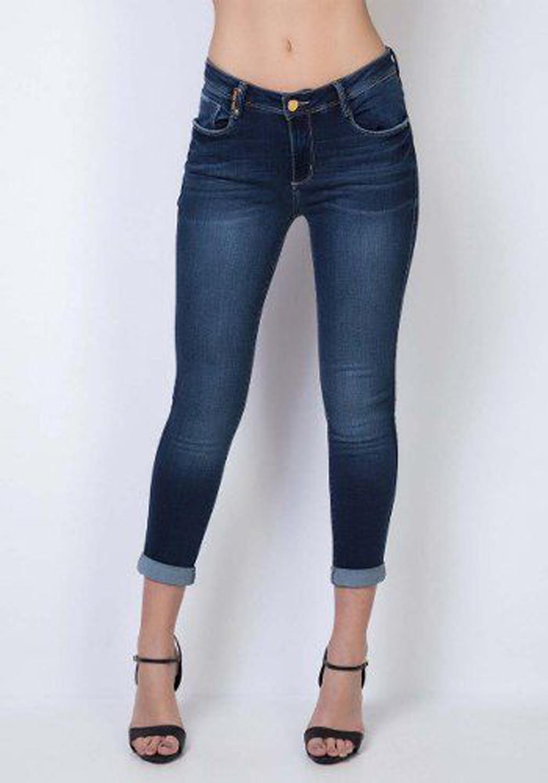 Calça Jeans Estonada Skinny Lança Perfume
