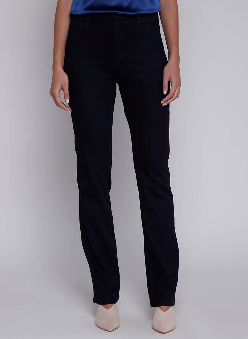 Calça Jeans Feminina Reta Bolso Faca Essentials Dudalina
