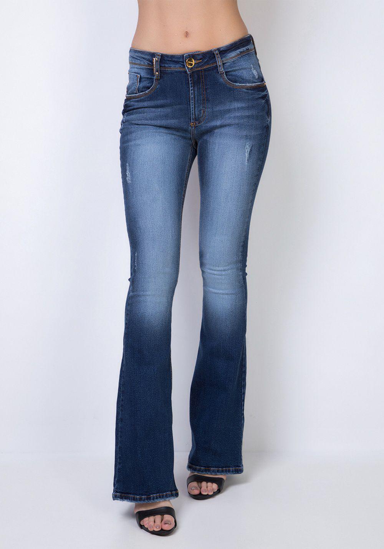 Calça Jeans High Flare Lança Perfume