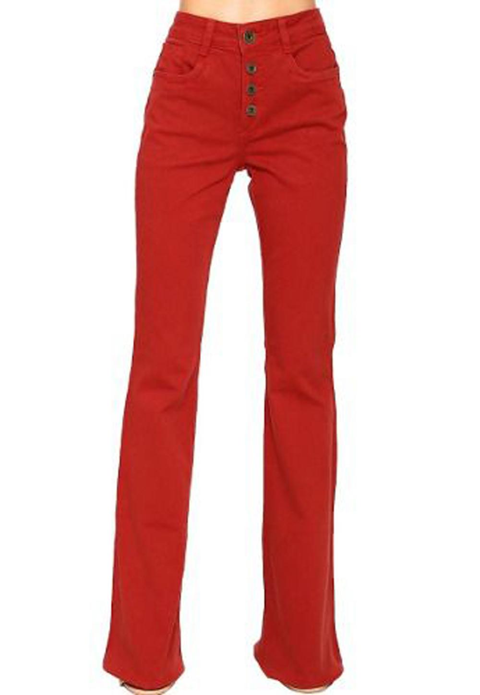 Calça Skinny Color Malha Cintura Alta MyFT