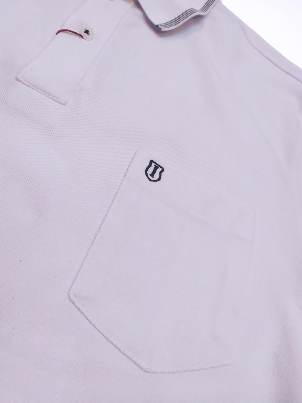 Camisa Gola Polo Masculina Básica com Bolso Individual