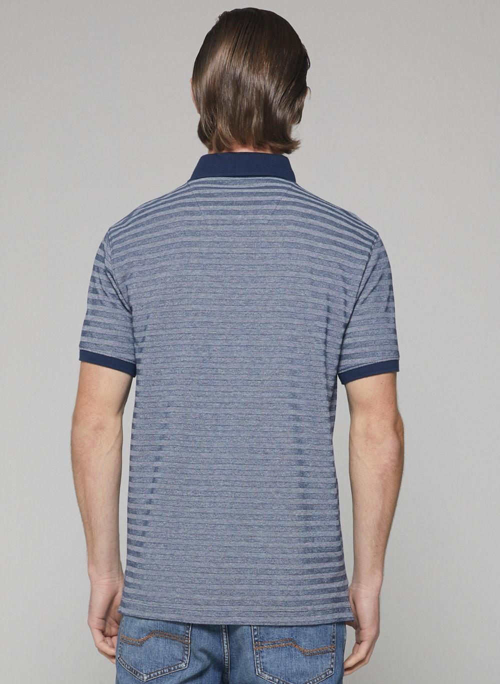 Camisa Masculina Gola Polo Fio Tinto Vista Embutida Dudalina
