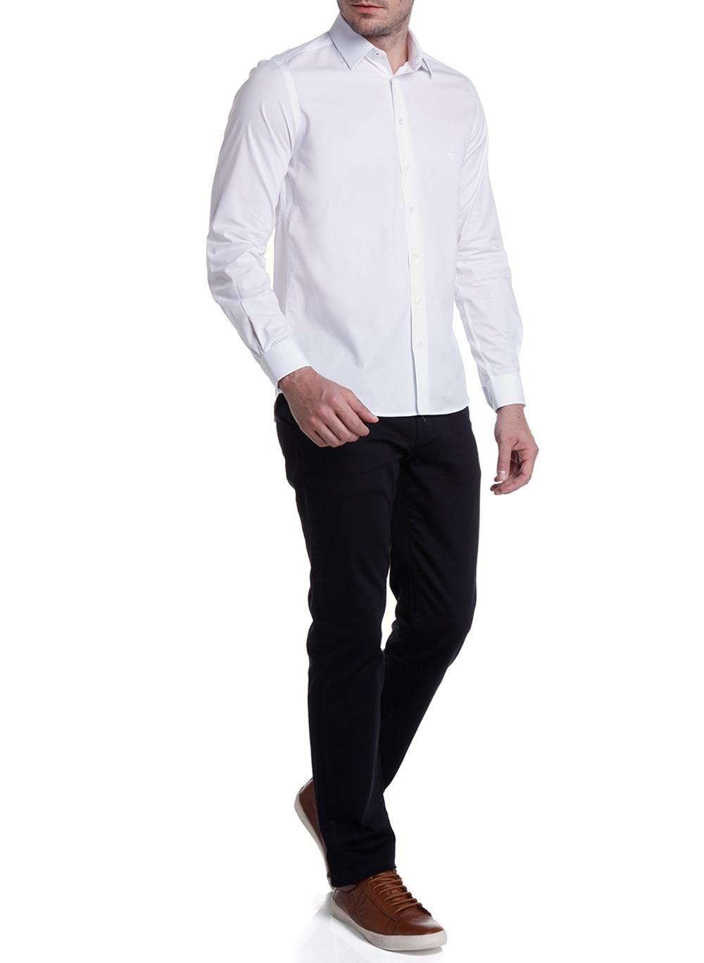 Camisa Masculina Lisa Slim Milano Fit Dudalina