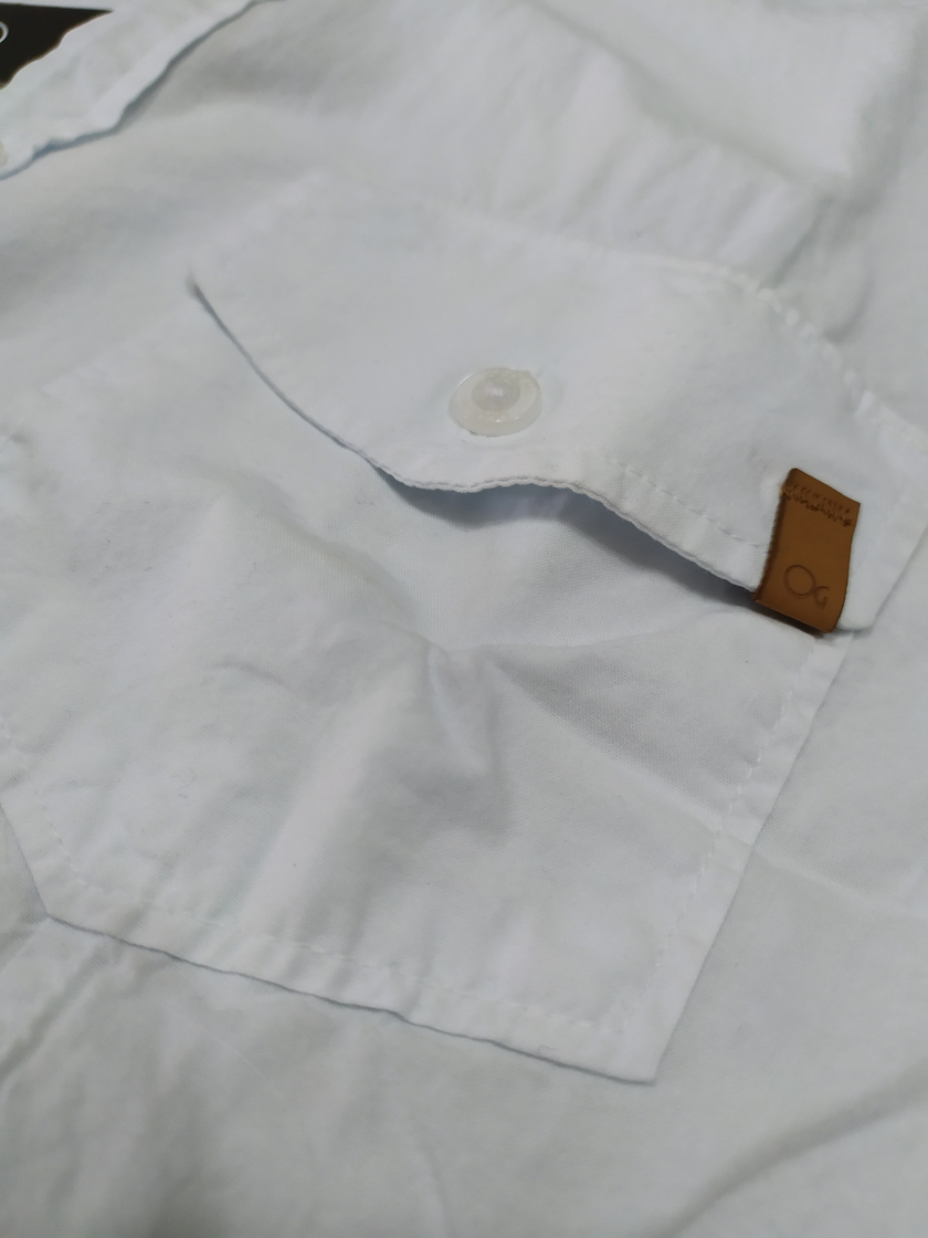 Camisa Masculina Meia Manga Ogochi Slim Concept 2 Bolsos