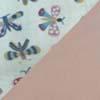 Rosa com borboletas