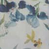 Branco / Azul Floral
