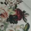 Branco / Bordô floral
